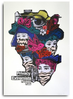 PRIVACY EXTREMISTS POSTER BY CRYPTO ART LAB